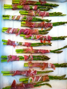 Proscuitto wrapped asparagus